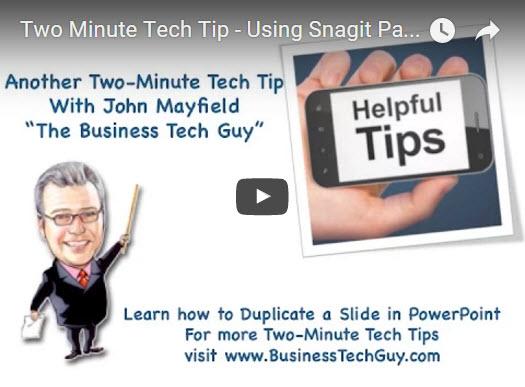 Snagit Tech Tip videos by John Mayfield