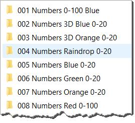 NumberedFolders