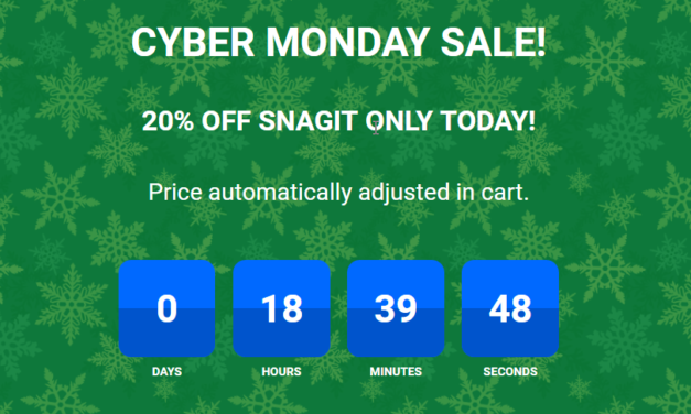 Snagit 13 Cyber Monday Deal